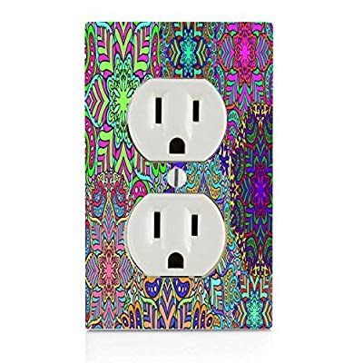 EandM Trippy Pattern Electrical Outlet Plate: Home & Kitchen