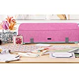 Luxja Dust Cover Compatible with Cricut Explore Air and Explore Air 2, Dust Cover with Back Pockets for Accessories, Pink