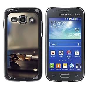 Caucho caso de Shell duro de la cubierta de accesorios de protección BY RAYDREAMMM - Samsung Galaxy Ace 3 - Vinilo jugador Aguja