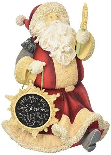 ENESCO Heart of Christmas Santa with Snowman Figurine 8.2...