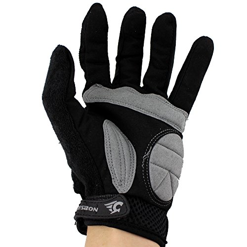 Ezyoutdoor Mittens Baseball Gloves Mitts Riding Gloves Handwear Full-finger Glove for Cycling Bike Outdoor Sports motorcycle Bicycle Riding Skiing Skating Size L (black)