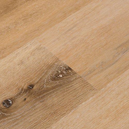 Cali Bamboo - Cali Vinyl Plus Cork-Backed Vinyl Floor, Extra Wide, Natural Elm Wood Grain - Sample