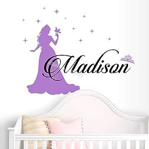 zhuziji Princesa Magia Nombre Personalizado Etiqueta de la Pared ...