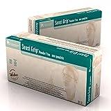 Dynarex 6715 Sensi Grip Latex Exam Gloves - P/F - X-Lg 10/100/Cs