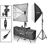 Emart Softbox Photography Video Studio Equipment Lighting Kit, 900 Watt Continuous Photo Portrait Light System, 24 x 24 Softboxes
