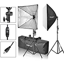 "EMART Softbox Photography Video Studio Equipment Lighting Kit, 900 Watt Continuous Photo Portrait Light System, 24"" x 24"" Softboxes"