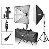EMART Softbox Photography Video Studio Equipment Lighting Kit, 900 Watt Continuous Photo Portrait Light System, 24' x 24' Softboxes