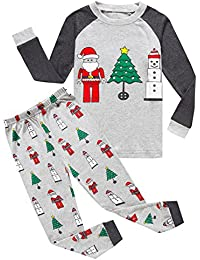 Christmas Sleepwears Unisex Little Boys Girls Pjs Long Kid Holiday Pajamas Sets