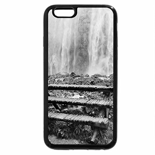 iPhone 6S Case, iPhone 6 Case (Black & White) - Steps to the Waterfalls