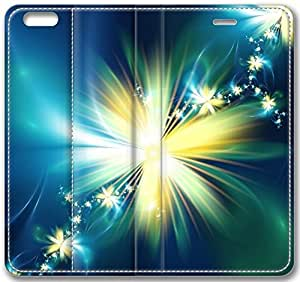 """Abstract Swirl Floral Glowing Flower Leather Cover for iPhone 6 Plus(5.5"""")"""