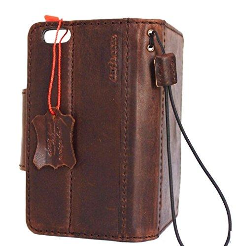 Original Vintage geölt Leder Handmade Safe für Apple iPhone 6S Wallet Lite 6S Retro AU