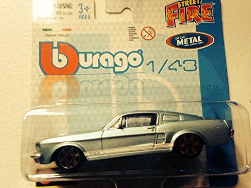 Bburago Street Metal Diecast 1/43 Ford Mustang Fastback GT Blue