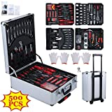 Burrby Tool Box Trolley Mechanic Household Toolbox with Casters for Workshop Garage (500Pcs)