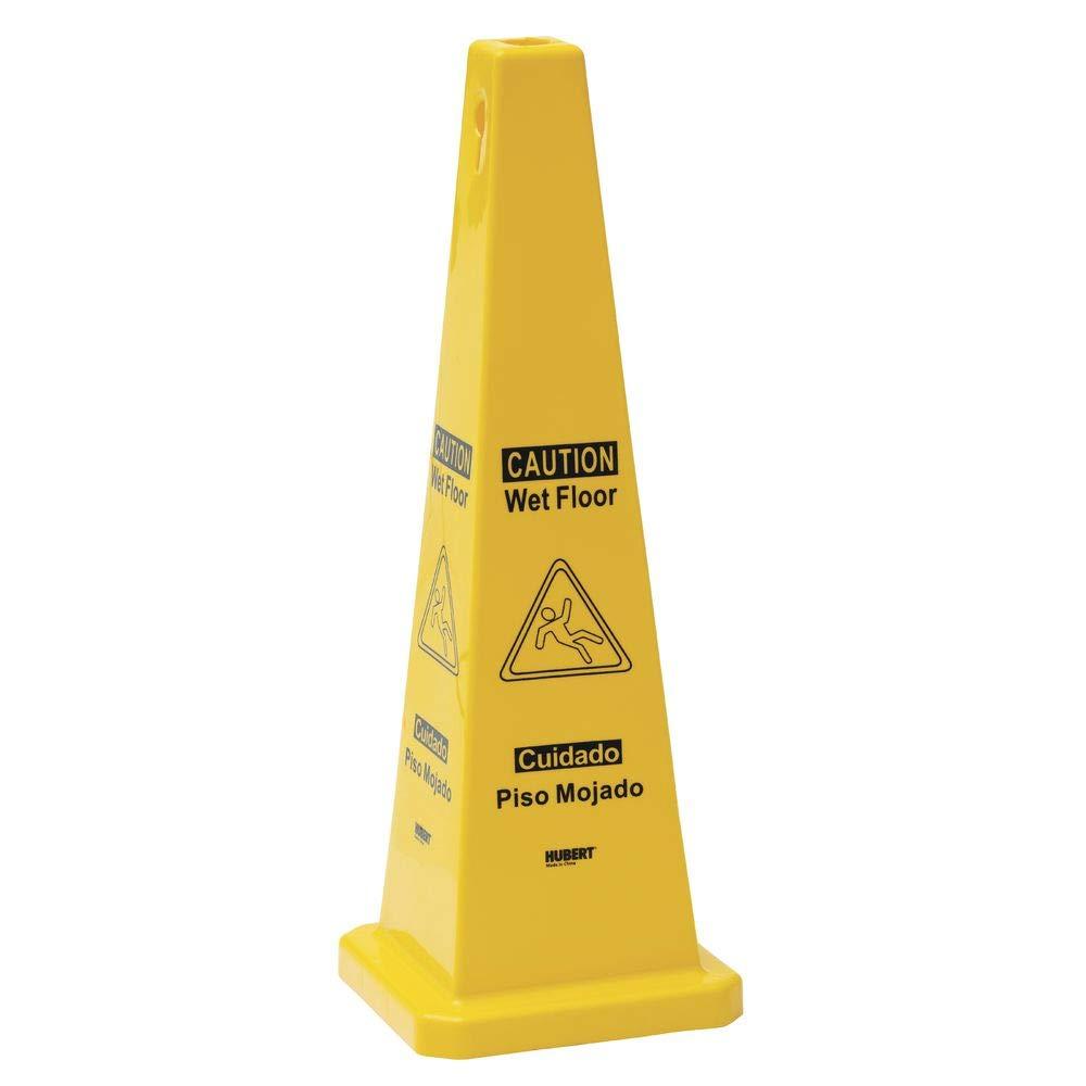 Hubert amarillo plástico 4 cara cono de suelo mojado - 11