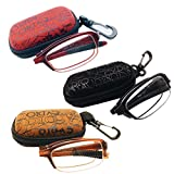 3 PRS Southern Seas Folding Reading +1.50 Glasses Travel 1x Black, 1x Brown, 1x Red Spectacles