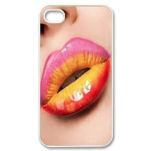 Iphone 4,4S Lips Phone Back Case DIY Art Print Design Hard Shell Protection MN051080
