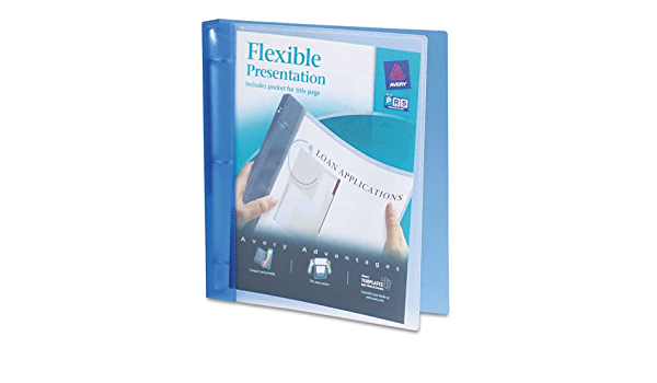 Flexible Round Ring Presentation Binder 1in Capacity Color Blue