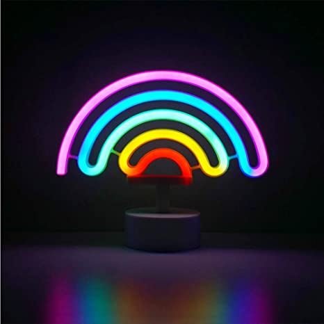 LED Colorful Night Light USB Battery Box Neon Lamp Home Bedroom Party Decoration
