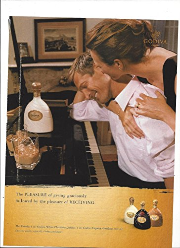 White Liqueur - MAGAZINE ADVERTISEMENT For Godiva Liqueur White Chocolate By The Piano 2003