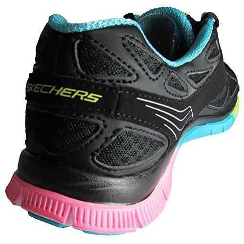 Skechers Dames 11881 Flex Appeal Sonora Sunset Sneaker Schoen Zwart / Multi