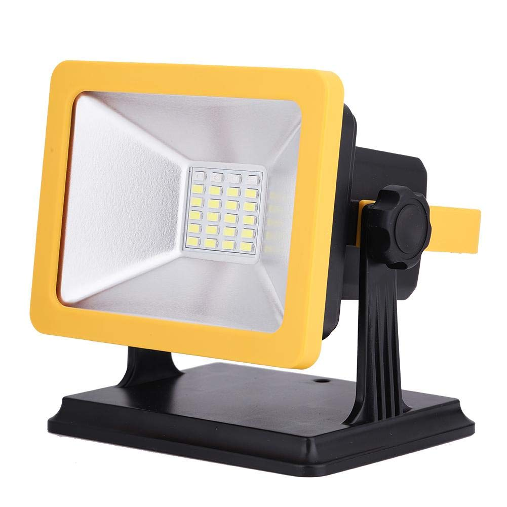 15W LED Emergency Flood Light,USB Rechargeable Waterproof Portable Work Lights Outdoor Camping Lights Warning Light for Workshop,Outdoor,Hiking,Fishing,Traveling