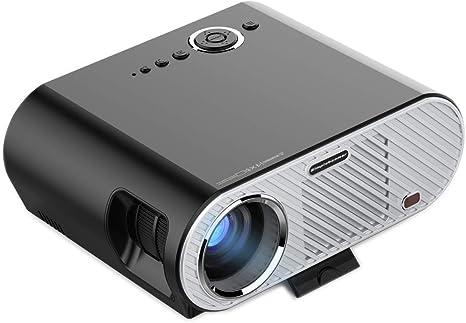 BESTSUGER Mini proyector, proyector portátil de Alta definición, 5 ...