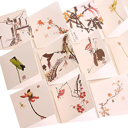 Featuring Hand-Drawn Thank You Card-16pcs Assorted Blank All-Occasion Note Cards-Thank You Cards (Mixed series)
