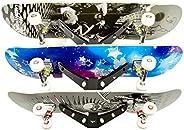 Koova Skateboard Rack Wall Mount, Board Storage and Display Holder, Easy to Install Powder Coated Steel Frame,