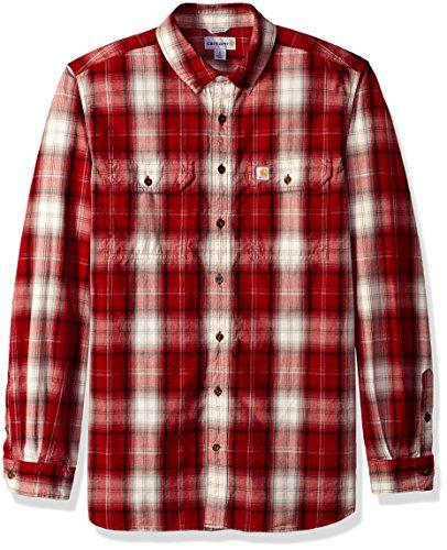 Carhartt Mens Big & Tall Fort Plaid Long Sleeve Shirt