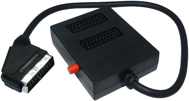 Bluecharge Direct - Caja de interruptores de 2 vías para euroconector (conmutable a 1 televisor): Amazon.es: Electrónica