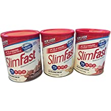 3 Pack Slimfast 3-2-1 Neapolitan Flavors~Creamy Milk Chocolate, Strawberries & Cream and French Vanilla~bonus Health Tips