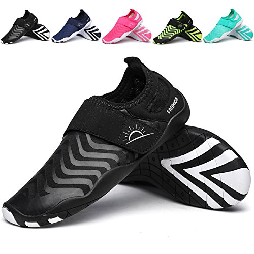 L-RUN Unisex Water Shoes for Pool Swimming Lightweight Casual Shoes Black XL(W:10-11,M:8-9)=EU 41-42