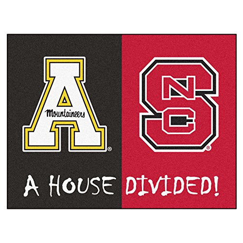 NCAA House Divided - NC State/Appalachian State House Divided Non-Skid Mat Rectangular Area Rug