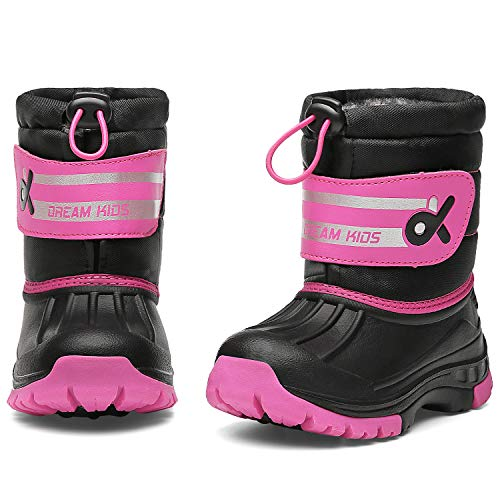 - DREAM KIDS Toddler Snow Boots Boys & Girls Lightweight Waterproof Cold Weather Winter Outdoor Boots (Toddler/Little Kid) 19TXDK02-T32-2-33