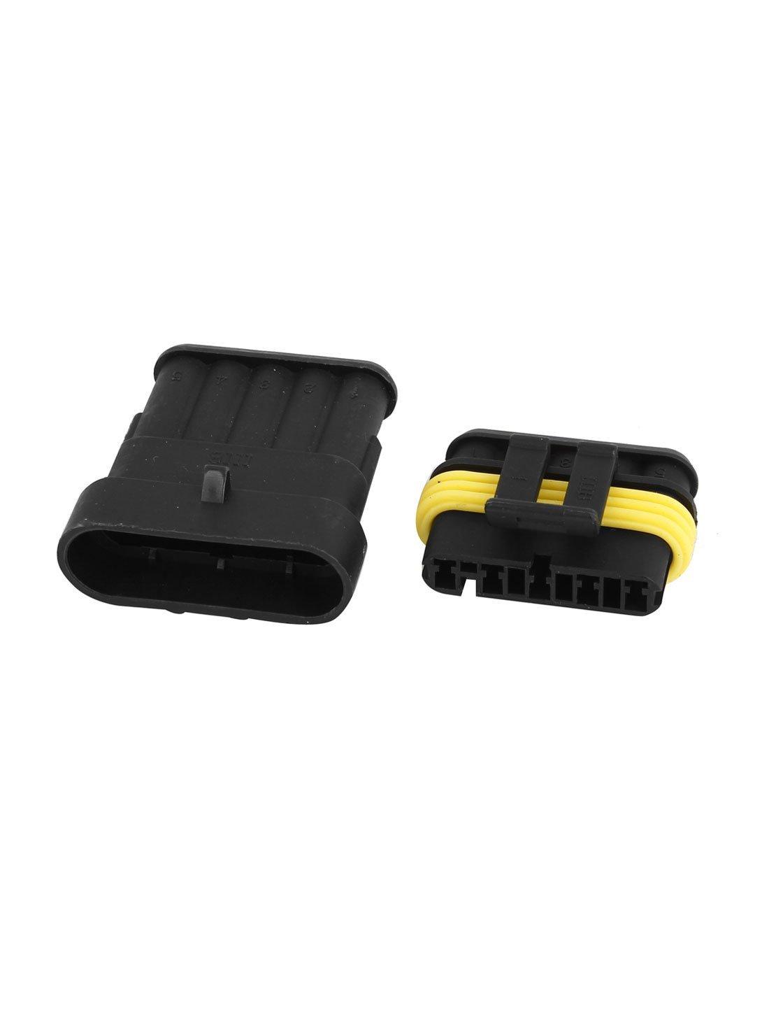 Amazon.com: eDealMax 2 Conjunto impermeable RV 5 Camino Conector coche del Barco del carro ATV UTV: Electronics
