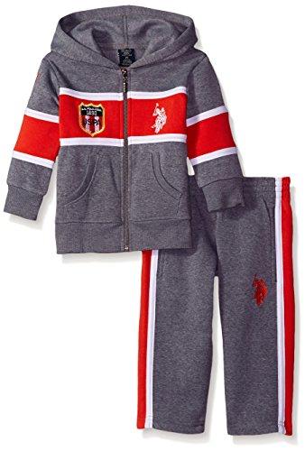 U S Polo Assn Little Boys Fleece Hoodie And Pant Jog