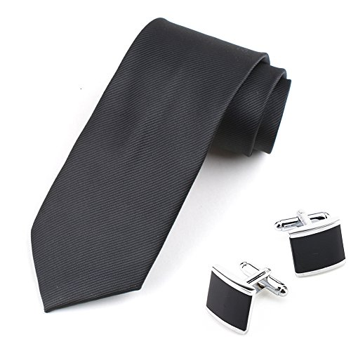 Solid Ties for Men Business Neckties Polyester ...