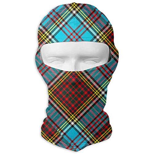 Giinly Modern Anderson Heavy Weight Tartan Windproof Dust Protection Balaclava Full Face Mask Hood - Modern Anderson Tartan