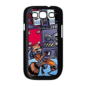 Samsung Galaxy S3 9300 Cell Phone Case Black Rocket Raccoon Heavy Artillery P4X8JL