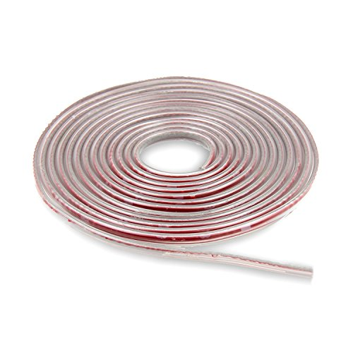 U Shape Car Door Edge Guards Trim Anti-collision Self Adhesive PVC Seal Strip for Cars Metal Edges Boat 16Ft(5M) (Transparent)