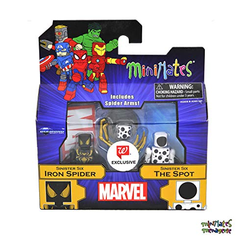 Minimates Marvel Toys R Us Wave 26 (Walgreens Exclusive) Sinister Six Iron Spider & The Spot - Iron Minimates Spider