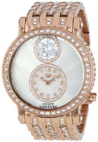 Juicy Couture Women's 1901074 Queen Couture Rose-Gold Plated Bracelet Watch