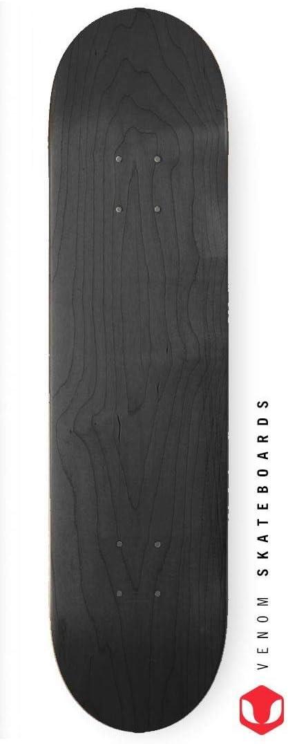 erh/ältlich in/3/Gr/ö/ßen Venom Skateboards Skateboard-Deck Schwarz