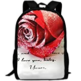 ZQBAAD Real Love 50 Ways In Old Love Letters Luxury Print Men And Women's Travel Knapsack