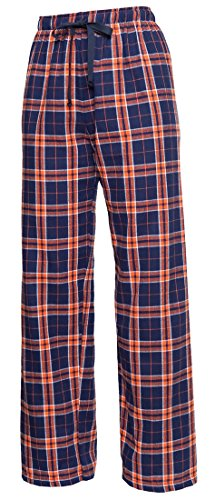 Check Flannel Tie Cord pants, Unisex Sizes, Medium (Plaid Check Flannel Pants)