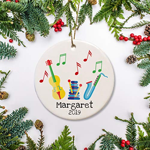 First Christmas Baby Ornament Musical Instruments First Musical Violin and Saxophone Baby's 1st Christmas