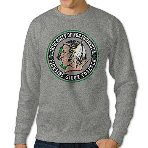 BestGifts Men's UND University Fighting Crew Neck Sweatshirt Ash Size - Converse Womens Sunglasses