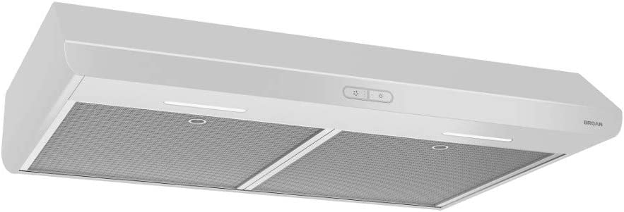 Broan-NuTone BKDB136WW Sahale Range Hood with LED Light, 36-Inch, White