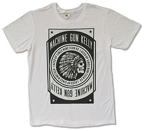 - LesGo-Tshirt Adult Machine Gun Kelly Chief White