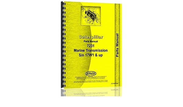 Caterpillar 7231 Marine Transmission Parts Manual